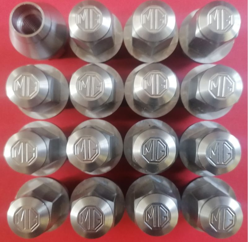 wheel nuts - stainless steel - new design set of 16